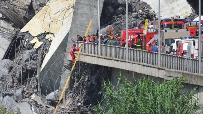 Ya son 42 los muertos por el derrumbe del puente de Génova