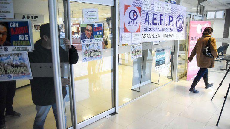El paro en la AFIP se hizo sentir en la atención al público