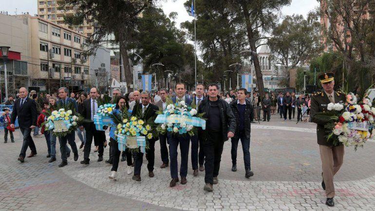 Gutiérrez y Quiroga recordaron juntos al Padre de la Patria