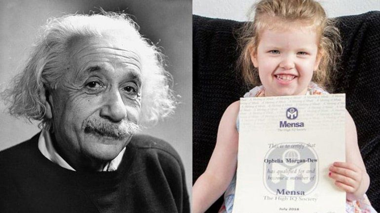 Una nena de 3 años  es más inteligente que Einstein