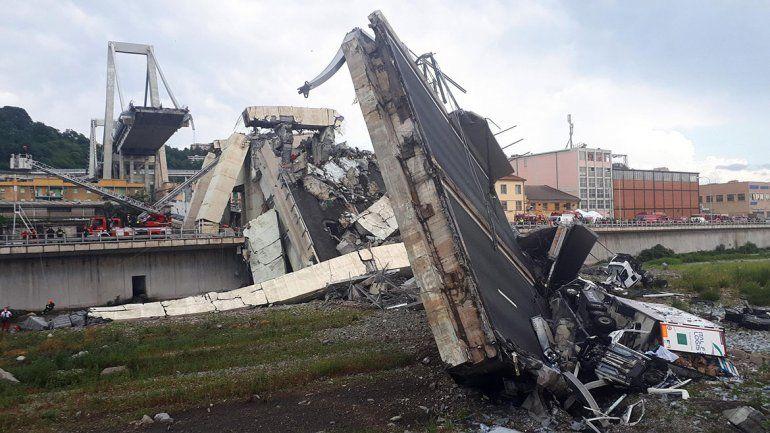 Ya son 43 los muertos por el derrumbe del puente de Génova.