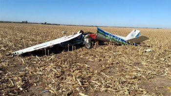 tragedia: murieron dos personas al estrellarse una avioneta