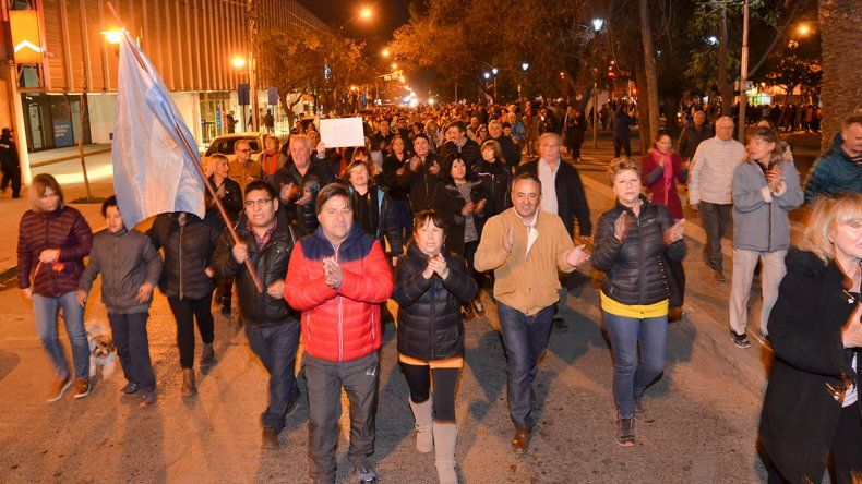 Marcharon en Neuquén para pedir el desafuero de Cristina