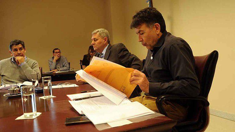 Diputados de la comisión de Hacienda de la Legislatura.