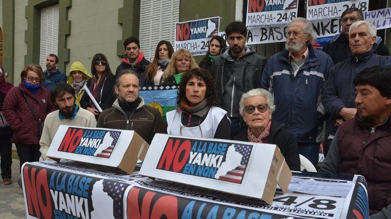 Convocan a marchar el viernes a las 18 contra la base estadounidense en Neuquén