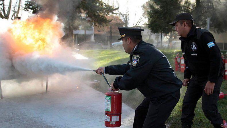 Capacitaron a Policías de Gobernación en prevención de incendios