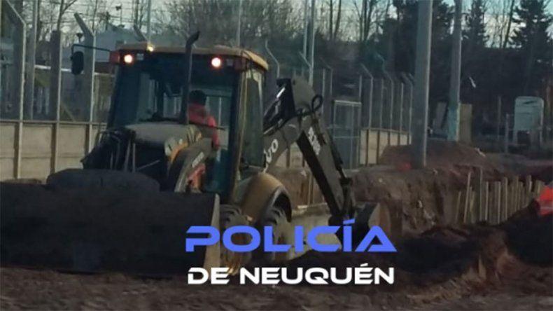 Defendieron a tres delincuentes que robaban materiales en las obras del Metrobus