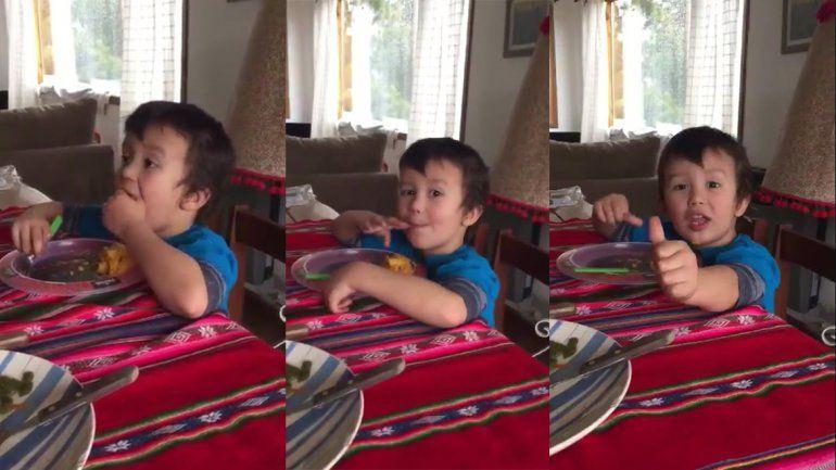 La desopilante versión del Himno de un nene que se volvió viral