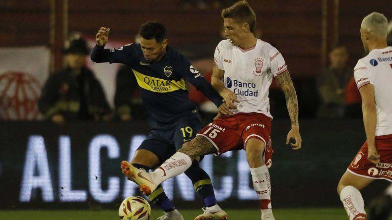 Boca no pudo en el Ducó: empató sin goles con Huracán