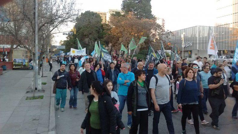 Una marcha K a favor de Cristina por las calles céntricas