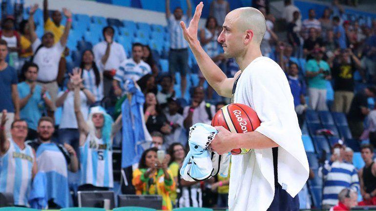 Manu se retiró de la selección argentina en los Juegos Olímpicos de Río 2015.