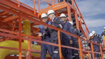 Macri inauguró la planta de gas de Tecpetrol