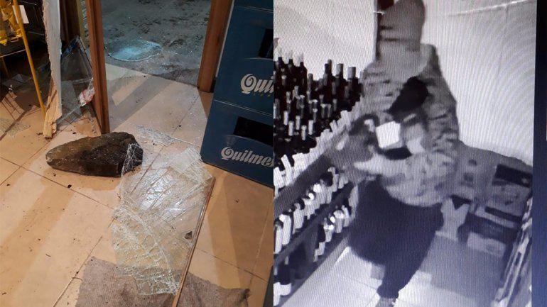 Rompieron la puerta con una piedra y se llevaron 25 mil pesos en bebidas