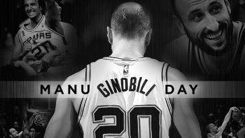 {alttext(,Los Spurs se rindió a su ídolo con el #ManuGinobiliDay)}
