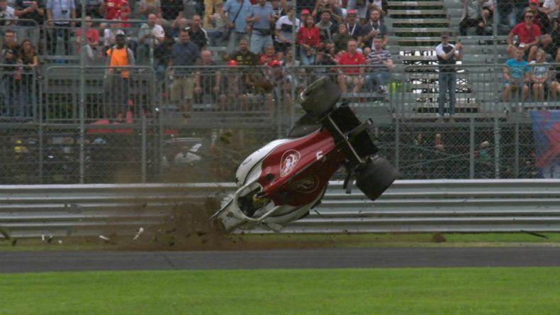 Ericsson no pudo frenar y protagonizó el accidente del fin de semana en la F1