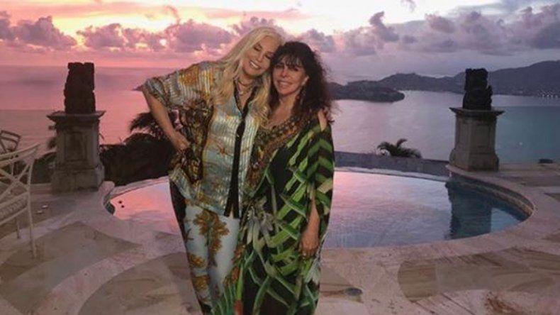 La actriz compartió en las redes una foto junto a Giménez.