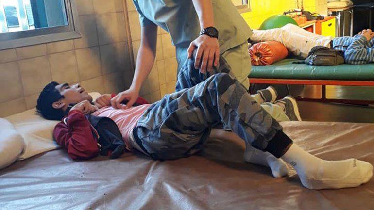 Tras la brutal golpiza, Facundo ya comenzó con su rehabilitación