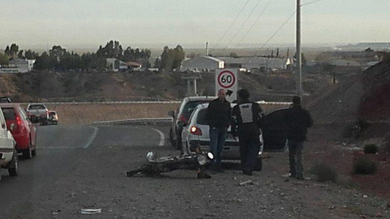 Un choque en cadena en el Cañadón de las Cabras complicó el tránsito en Ruta 7