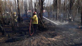 Evacuaron un jardín por un incendio de pastizales