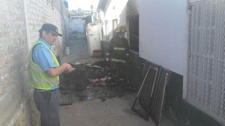 Incendio en una casa: tres niños se salvaron de milagro