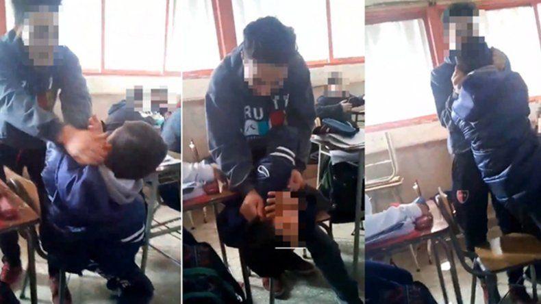 Bullying en plena clase: se viralizó la salvaje agresión a un adolescente