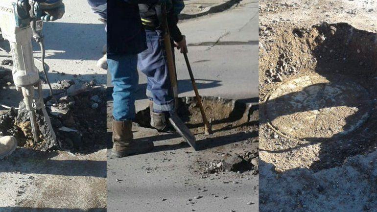El EPAS acusó a la Muni de pavimentar bocas de la red cloacal