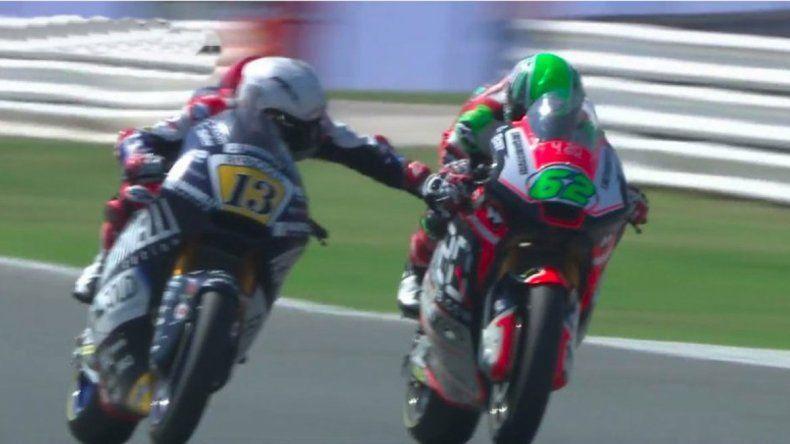 Locura en el mundial de motos: un corredor le tocó el freno a otro a 200 km/h