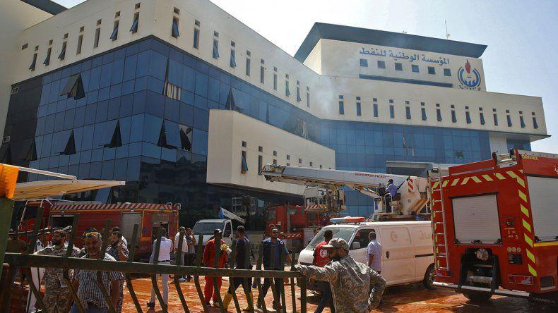 El ataque fue contra la National Oil Corporation de Libia.