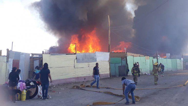 100 casas destruidas