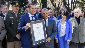 Gutiérrez y Quiroga apostaron al trabajo en el acto del aniversario