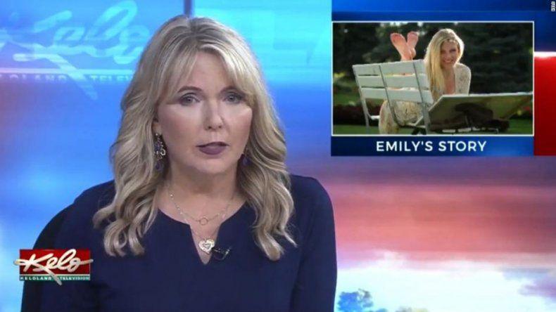 Estremecedor: una periodista dio la noticia de la muerte de su propia hija al aire