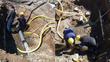 oeste neuquino: el acueducto de godoy y moritan ya esta reparado