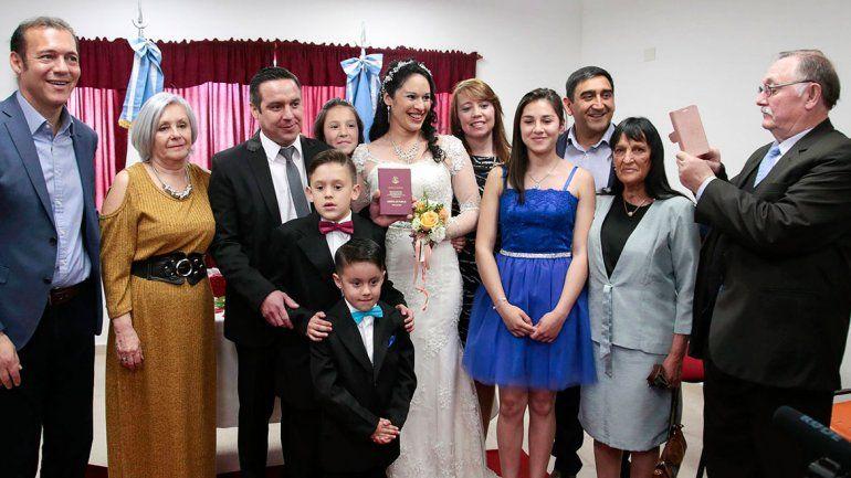 Con un casorio, Las Ovejas estrenó el Registro Civil