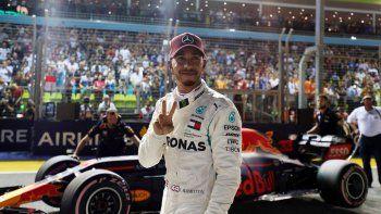 hamilton fue el mas veloz en el gran premio de singapur
