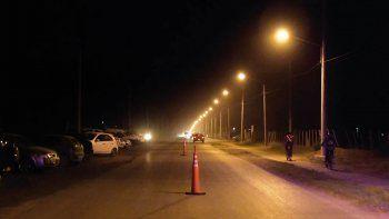 nueva iluminacion para la avenida del trabajo en plottier