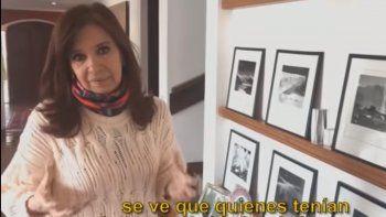 Mirá el video de Cristina mostrando su casa allanada