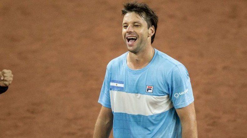 Zeballos le aportó el cuarto punto para Argentina en Copa Davis