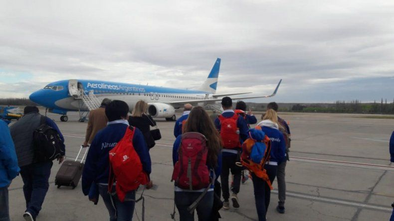 La delegación neuquina partió con sueños a los Juegos de Invierno