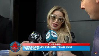 flor pena enfrento a la prensa tras la viralizacion de los audios hot de su marido con otra mujer