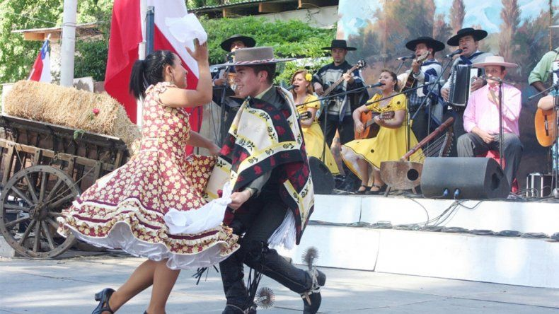 Los chilenos de Neuquén también tuvieron festejos