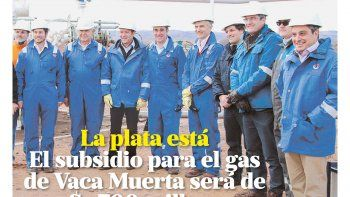 El subsidio para el gas será de u$s 700 millones