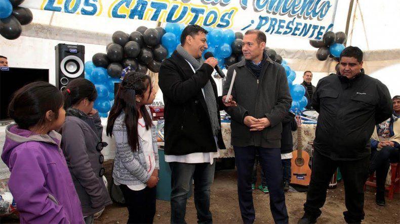 Gutiérrez participó del aniversario de Los Catutos y anunció nuevas obras