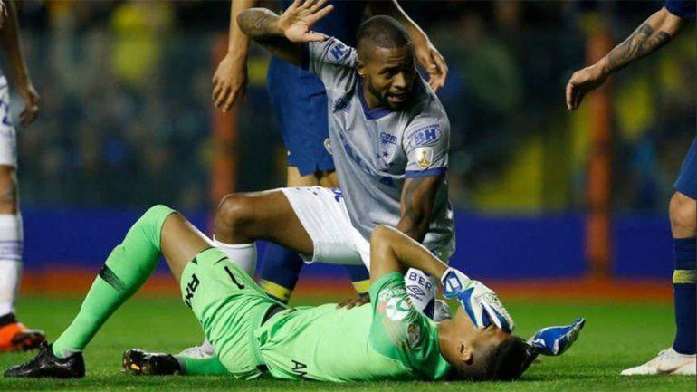 Malas noticias para Boca: Andrada se fracturó la mandíbula