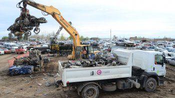 Compactarán 300 motos que llegaron desde Cipolletti