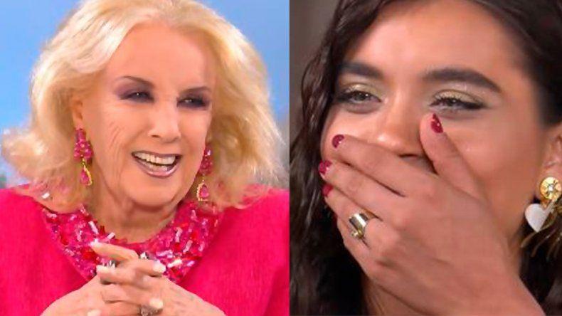 Mirtha cuestionó a Flor Peña y su relación poliamor