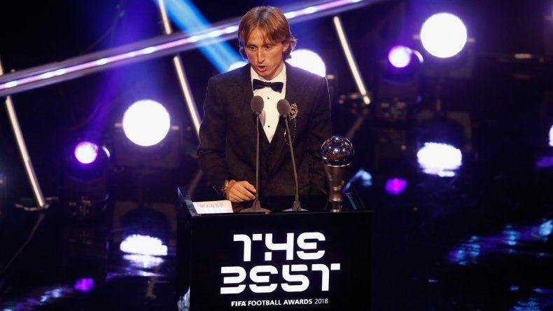 El croata Luka Modric ganó el premio The Best