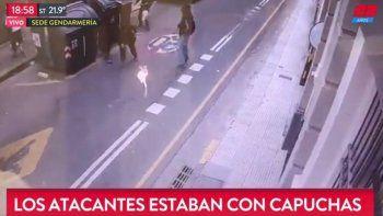 tiraron bombas molotov al edificio de gendarmeria