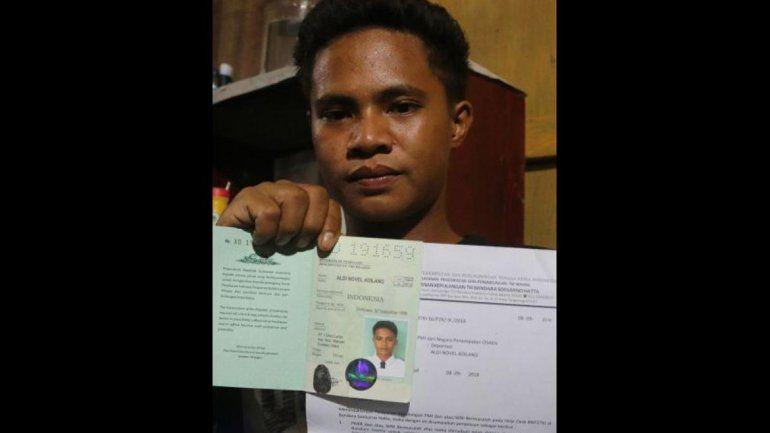 El adolescente fue rescatado por una embarcación petrolera de Panamá.