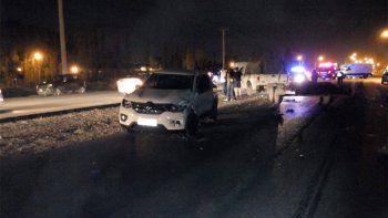 Un choque en cadena sobre la Ruta 22 dejó cinco personas lesionadas