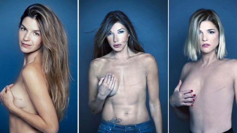 La impactante campaña de famosas contra el cáncer de mama
